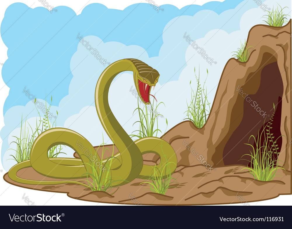 Landscape with snake vector | Price: 1 Credit (USD $1)