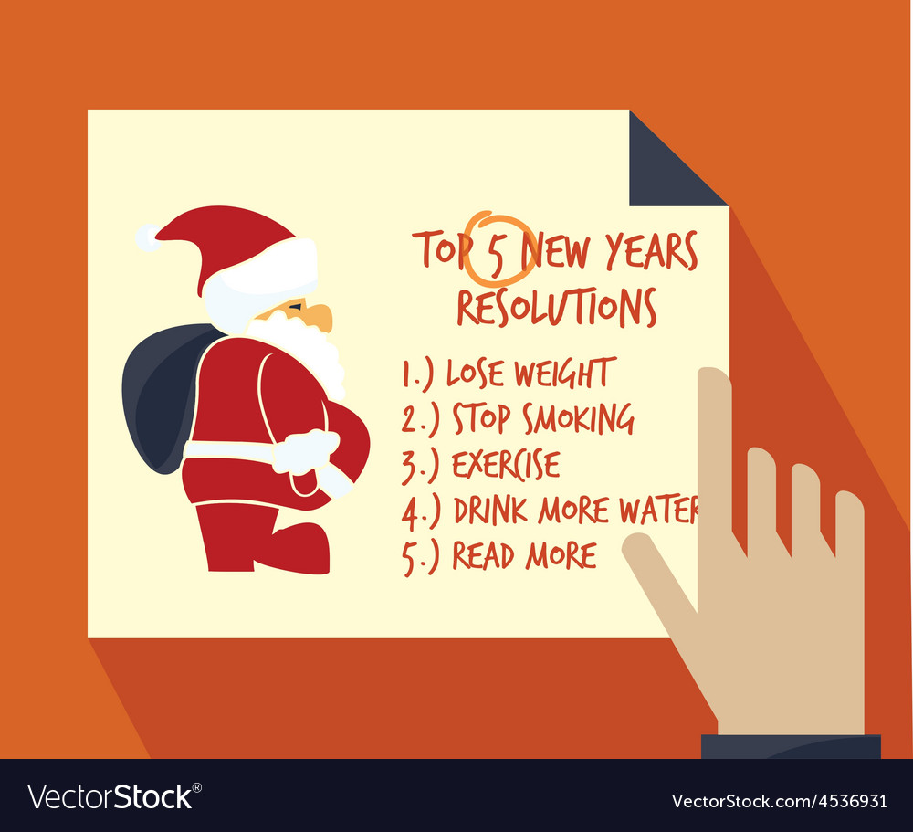 New years resolution list2 resize vector | Price: 1 Credit (USD $1)
