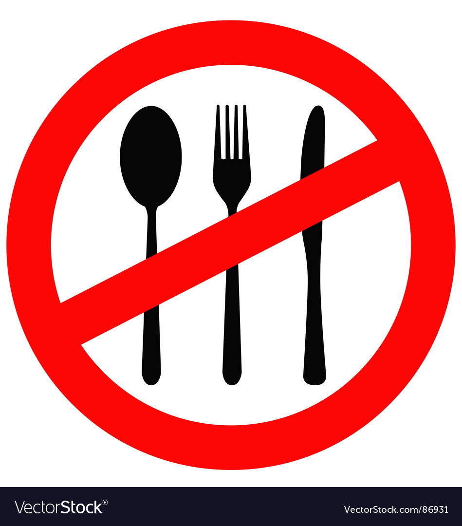 No eating sign vector | Price: 1 Credit (USD $1)