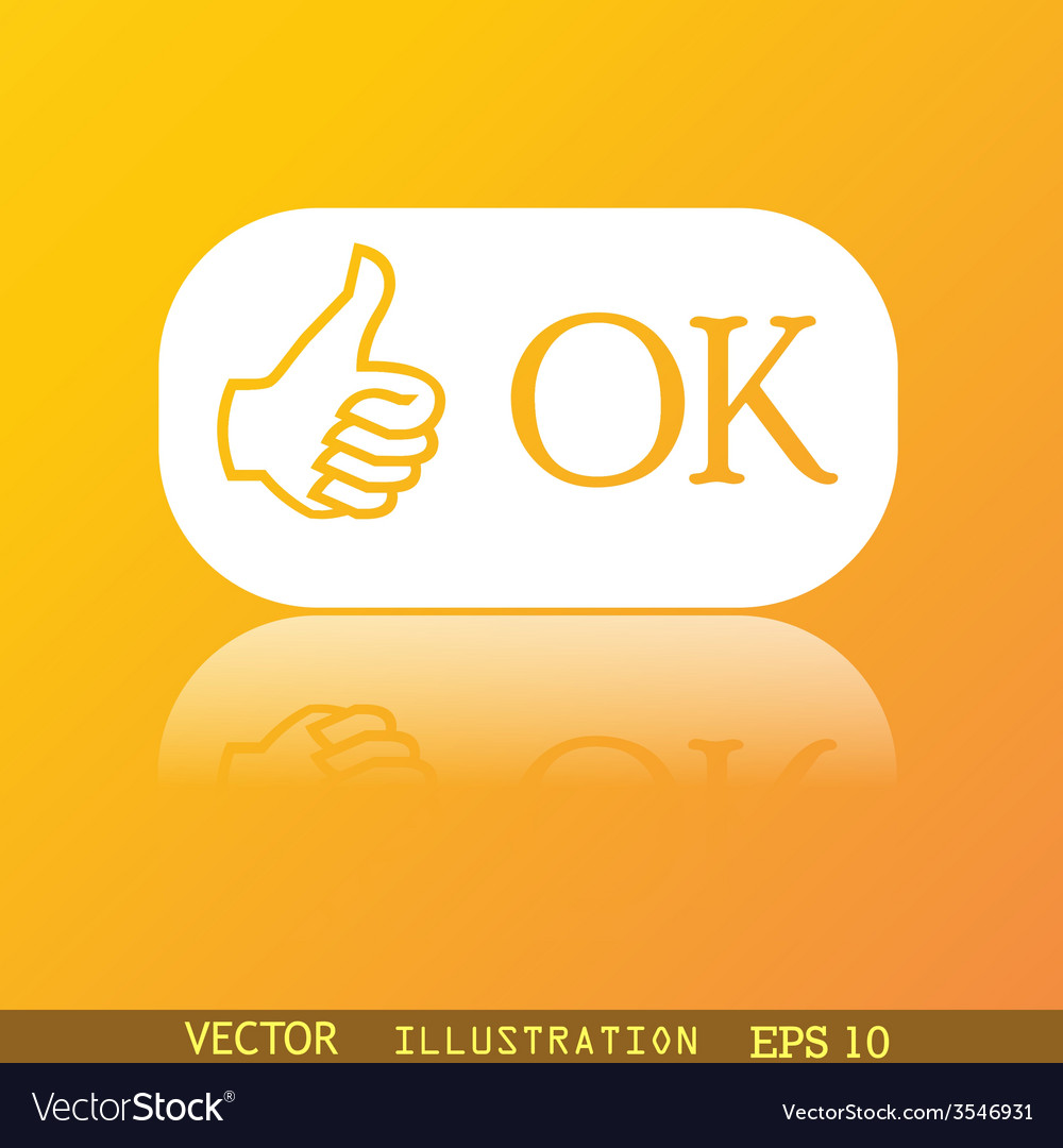 Ok icon symbol flat modern web design with vector | Price: 1 Credit (USD $1)