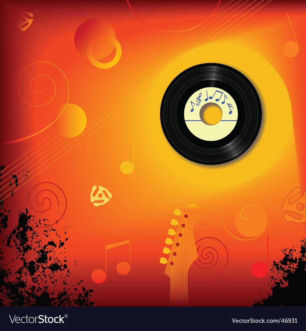 Retro 45 rpm music background vector | Price: 1 Credit (USD $1)