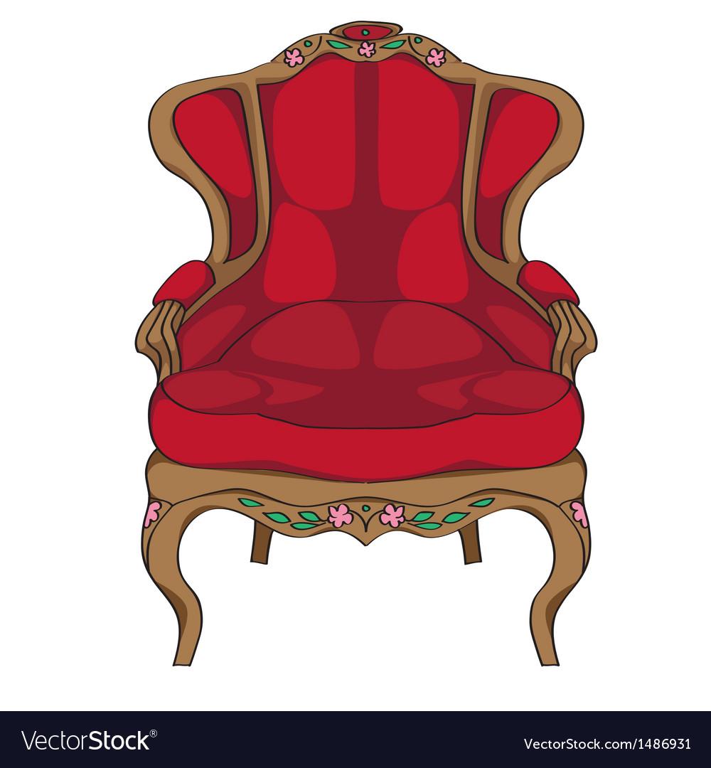 Rococo armchair vector | Price: 1 Credit (USD $1)