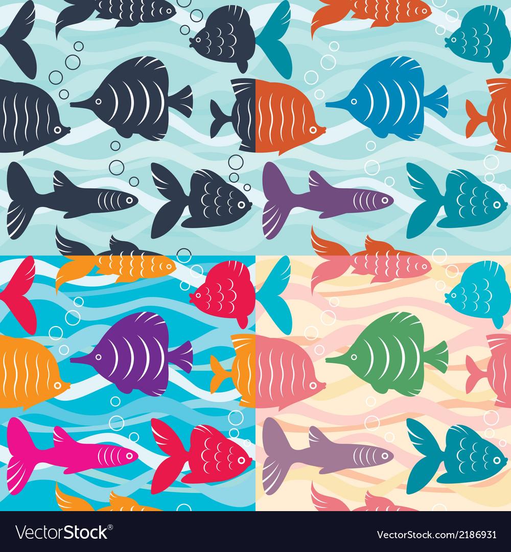 Seamless background aquarium fish vector   Price: 1 Credit (USD $1)