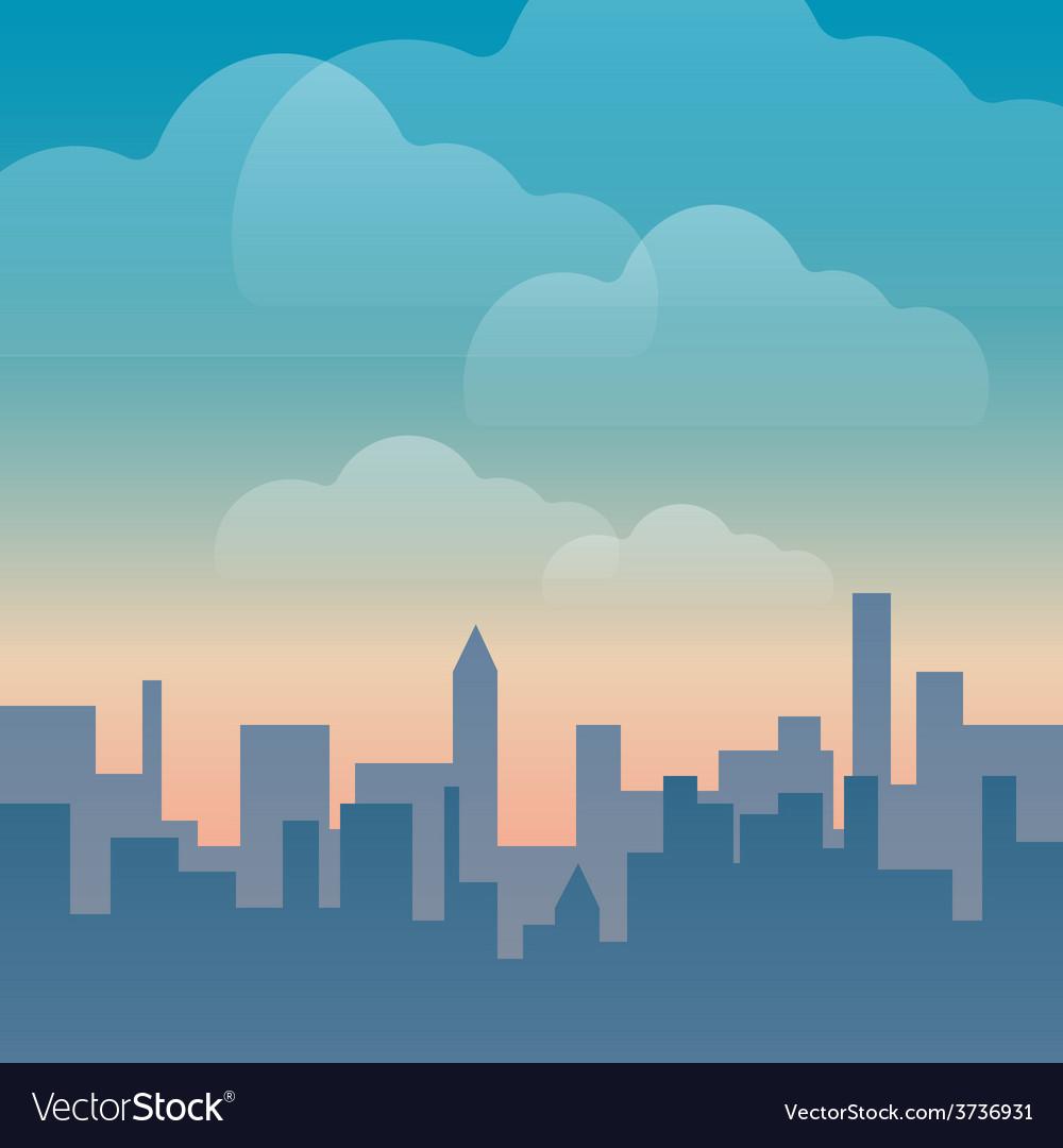 Urban silhouetteraster vector | Price: 1 Credit (USD $1)