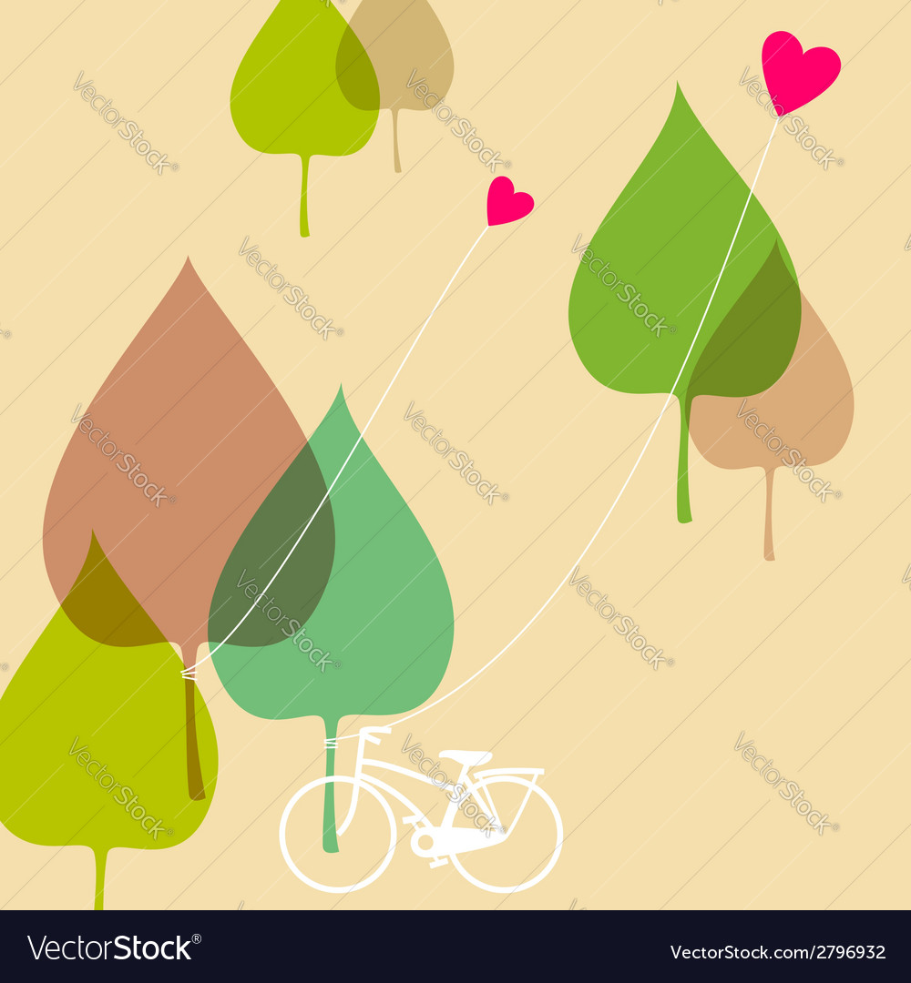 Bicycle in the park vector | Price: 1 Credit (USD $1)