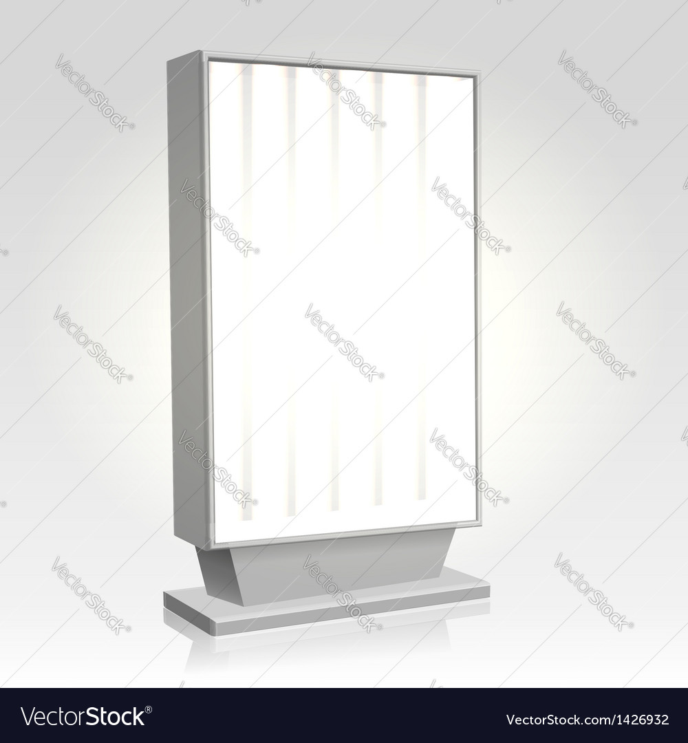 City lightbox billboard vector | Price: 1 Credit (USD $1)