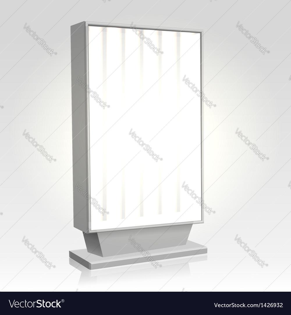 City lightbox billboard vector | Price:  Credit (USD $)
