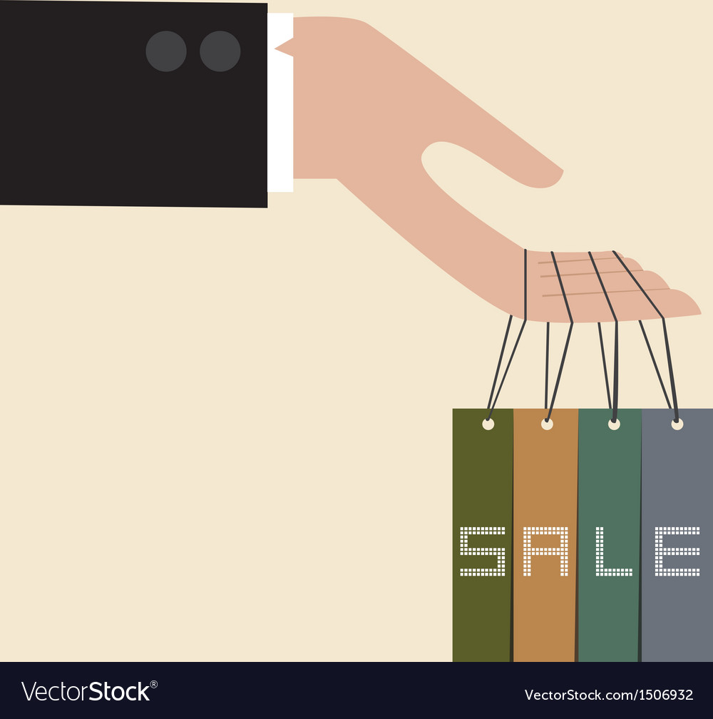 Hand hang with discount tag vector | Price: 1 Credit (USD $1)