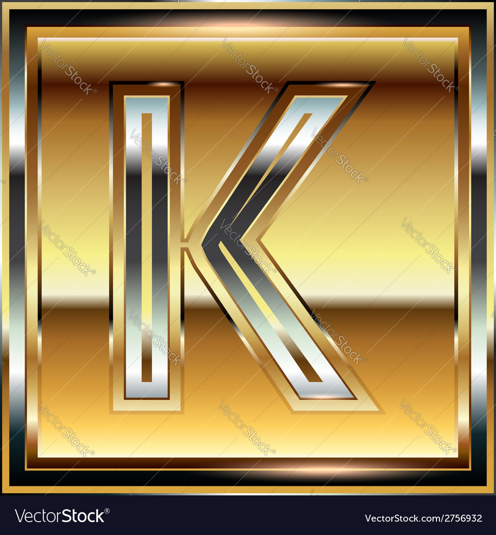 Ingot font letter k vector | Price: 1 Credit (USD $1)