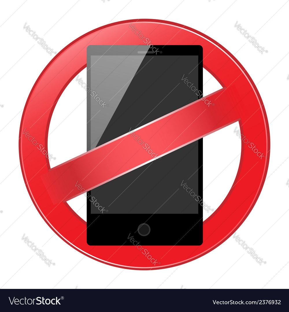 Mobile phone forbidden vector | Price: 1 Credit (USD $1)