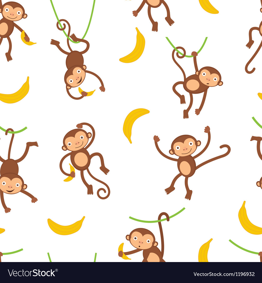 Monkey pattern vector | Price: 1 Credit (USD $1)