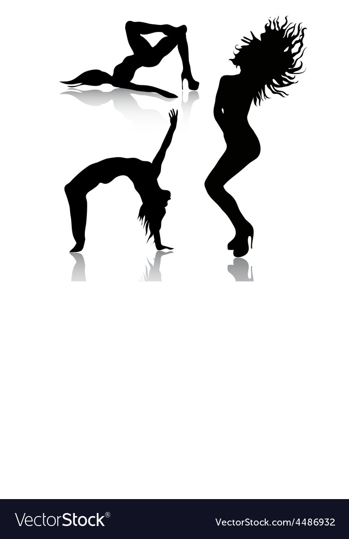Set of dancing woman vector | Price: 1 Credit (USD $1)