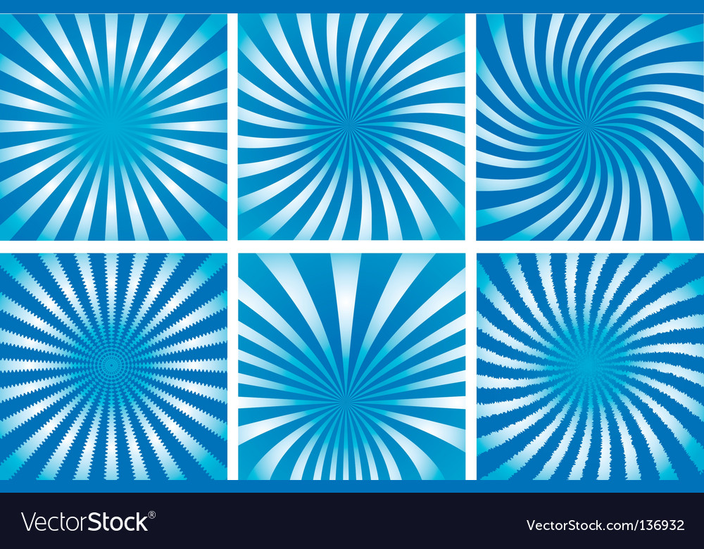 Sunburst background set vector