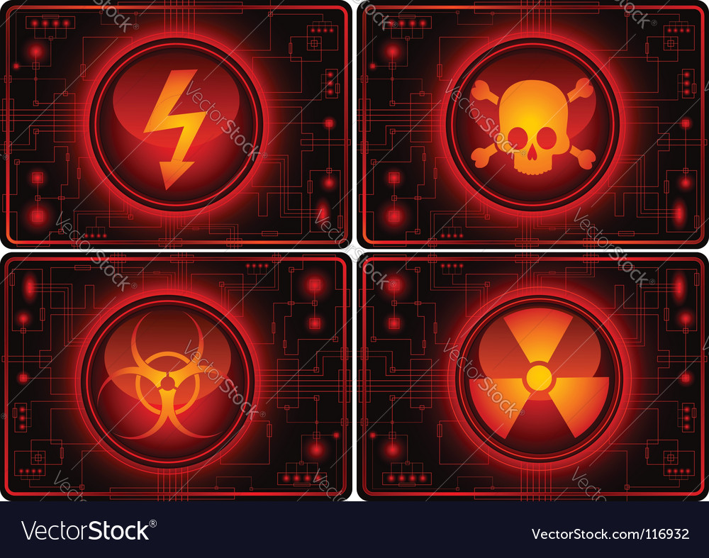 Warning symbols vector | Price: 1 Credit (USD $1)