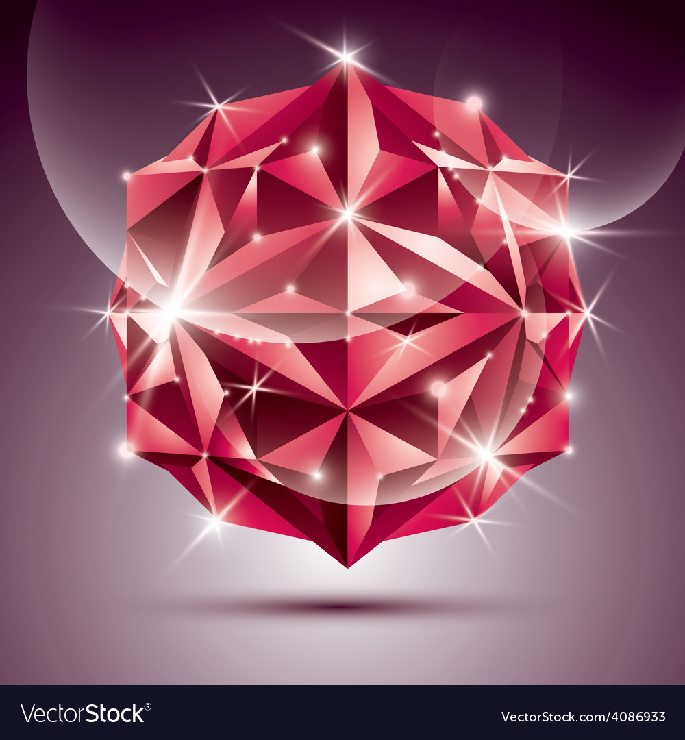 3d red shiny disco ball fractal dazzling abstract vector | Price: 1 Credit (USD $1)