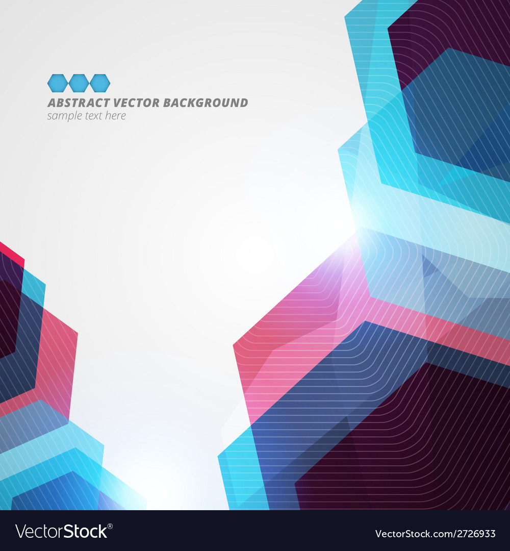 Abstract hexagon geometric color background eps10 vector | Price: 1 Credit (USD $1)