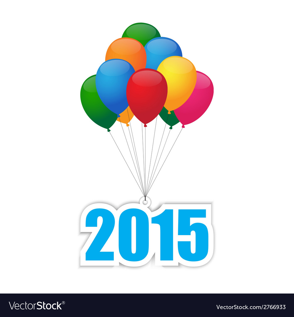 Balloons 2015 vector | Price: 1 Credit (USD $1)