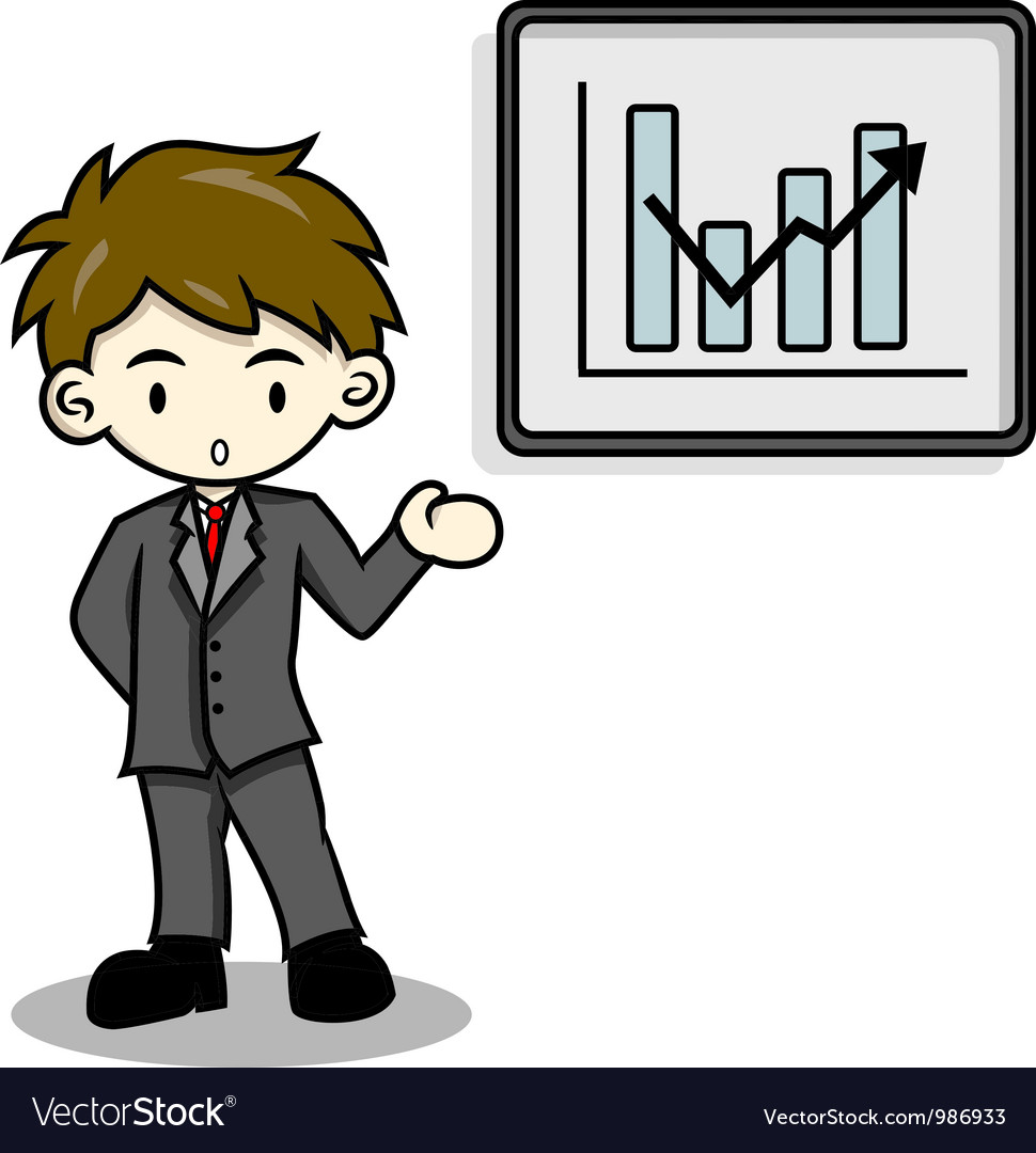 Business man is explaining with whiteboard vector | Price: 1 Credit (USD $1)