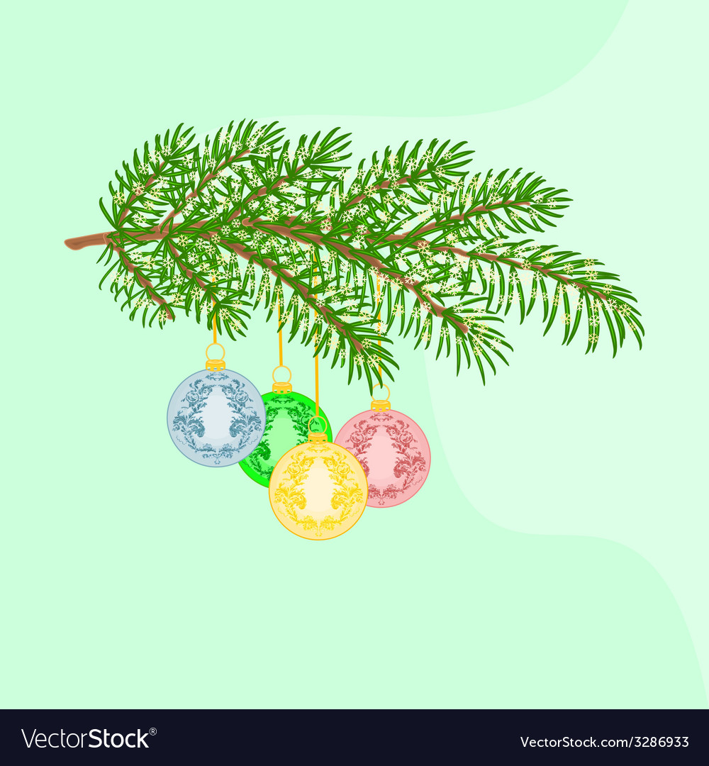 Christmas decoration branch vector | Price: 1 Credit (USD $1)