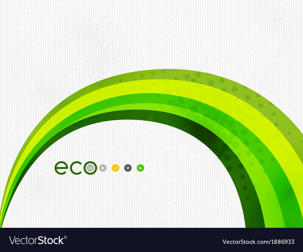 Green eco rainbow on textile texture vector | Price: 1 Credit (USD $1)