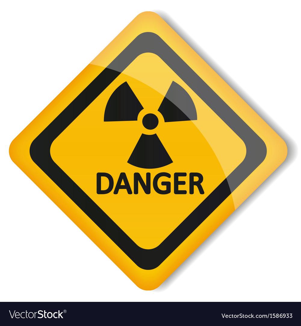 Label radiation hazard vector | Price: 1 Credit (USD $1)