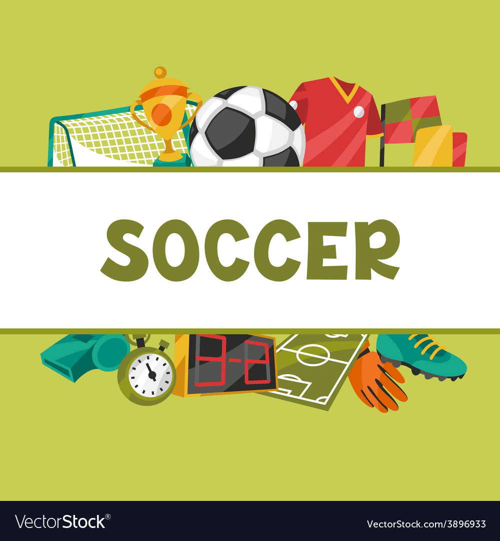 Sports background with soccer football symbols vector | Price: 1 Credit (USD $1)