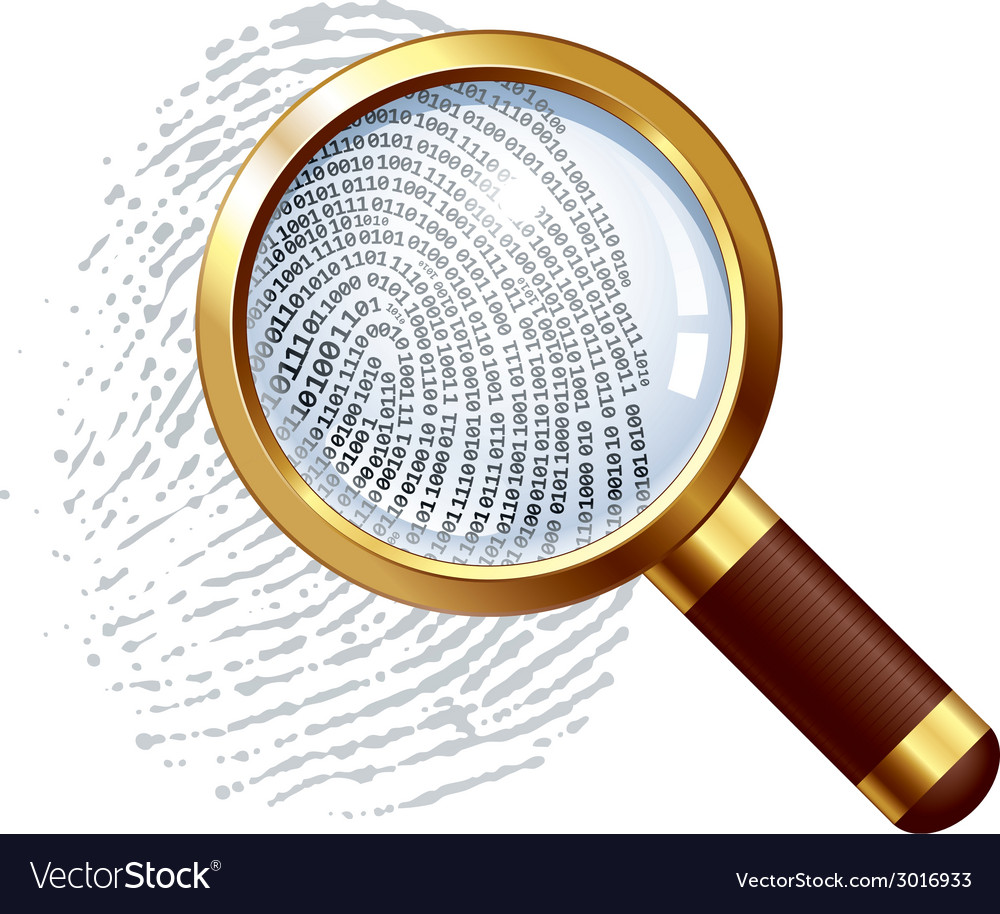 Thumbprint examination vector | Price: 1 Credit (USD $1)