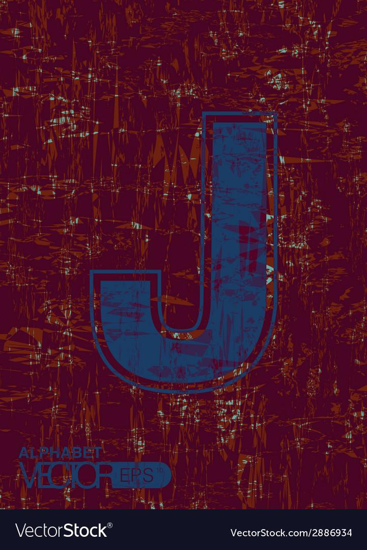 Alphabet j vector | Price: 1 Credit (USD $1)