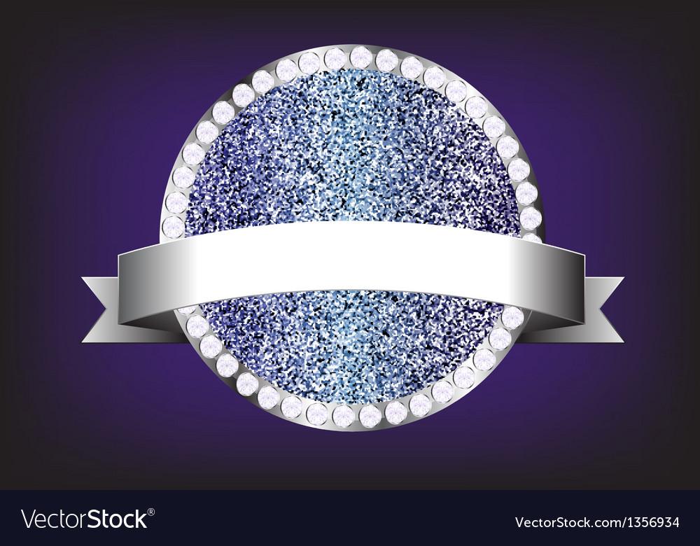 Label diamond sparkle glitter vector | Price: 1 Credit (USD $1)