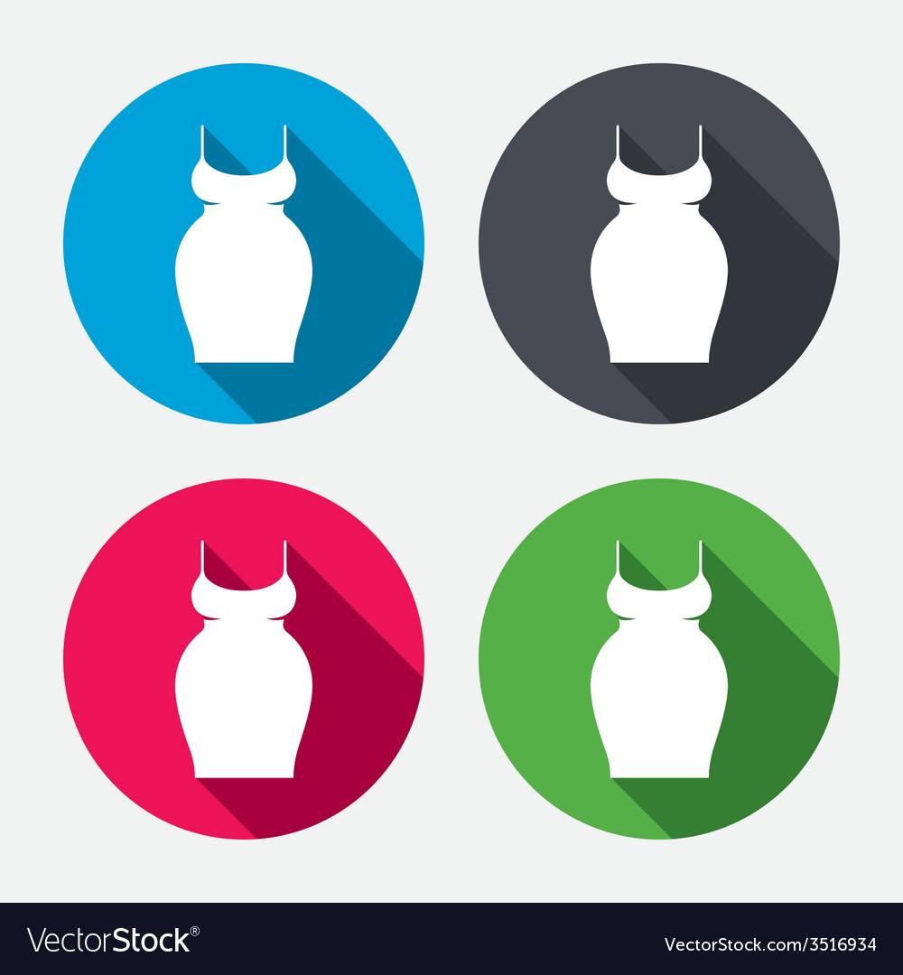 Pregnant woman dress sign icon maternity symbol vector | Price: 1 Credit (USD $1)