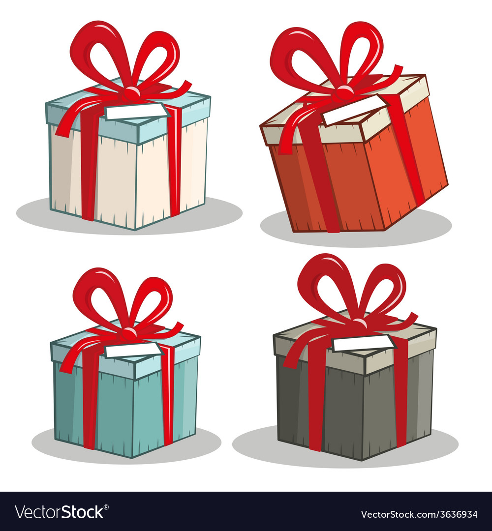 Retro gift boxes set vector | Price: 1 Credit (USD $1)