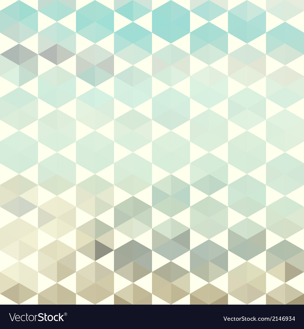 Retro pattern of geometric hexagon shapes vector | Price: 1 Credit (USD $1)