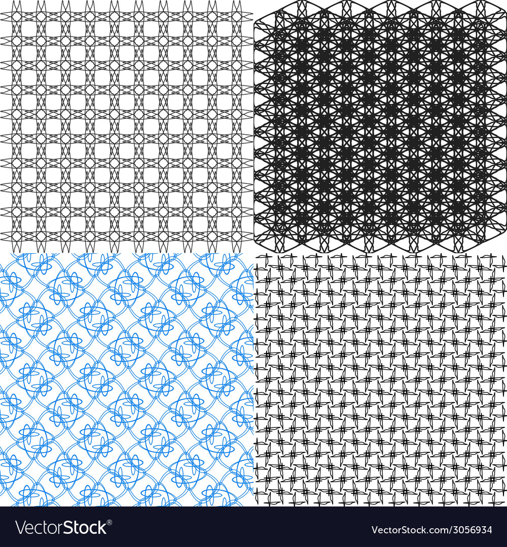 Set of pattern modern stylish texture repeating vector | Price: 1 Credit (USD $1)