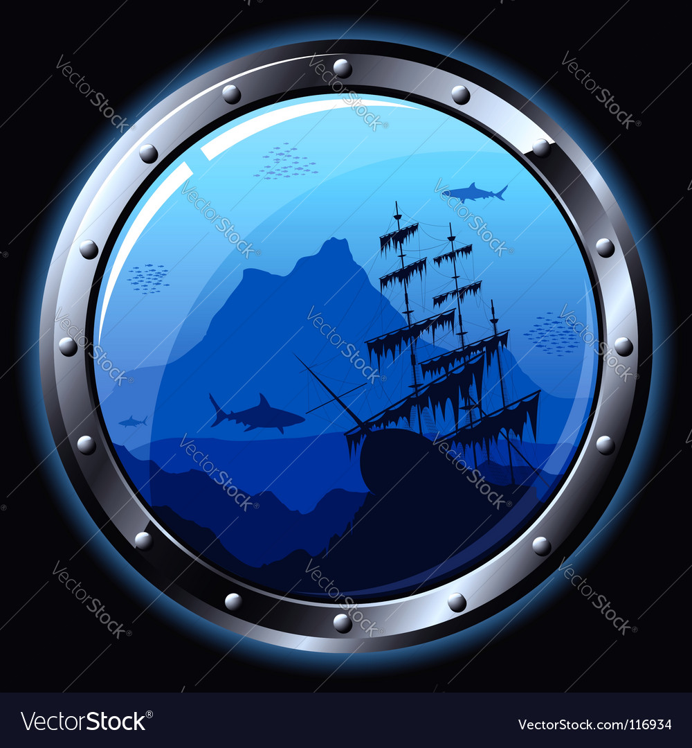 Steel porthole vector | Price: 1 Credit (USD $1)