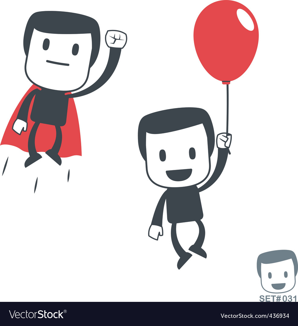 Superhero icon man set031 vector | Price: 1 Credit (USD $1)