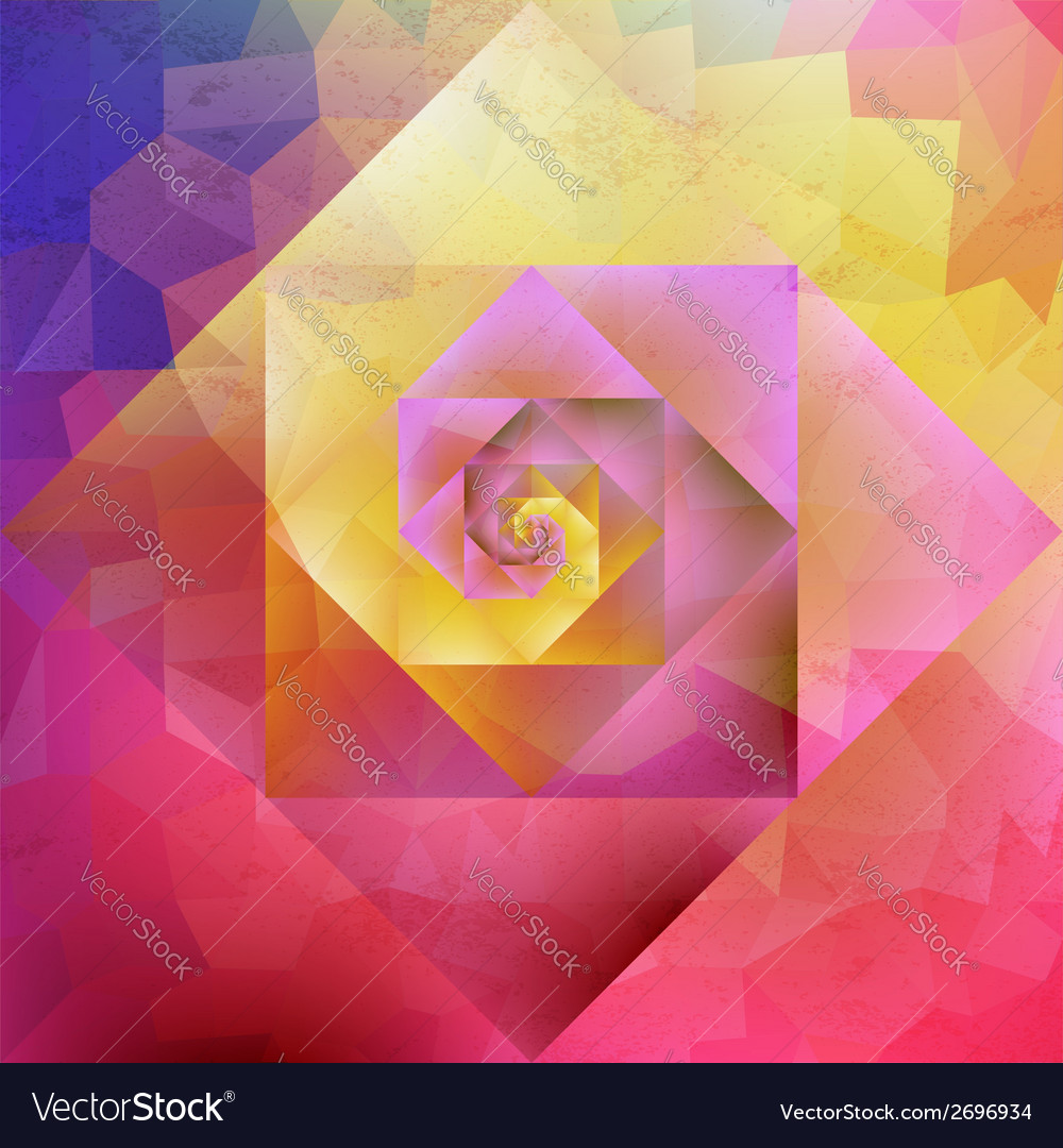 Vibrant vintage optic art geometric pattern vector | Price: 1 Credit (USD $1)