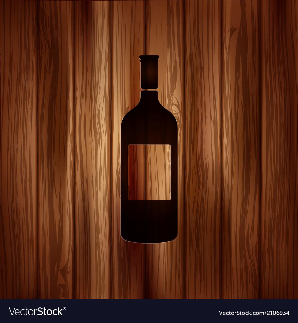 Wine bottle icon vector | Price: 1 Credit (USD $1)