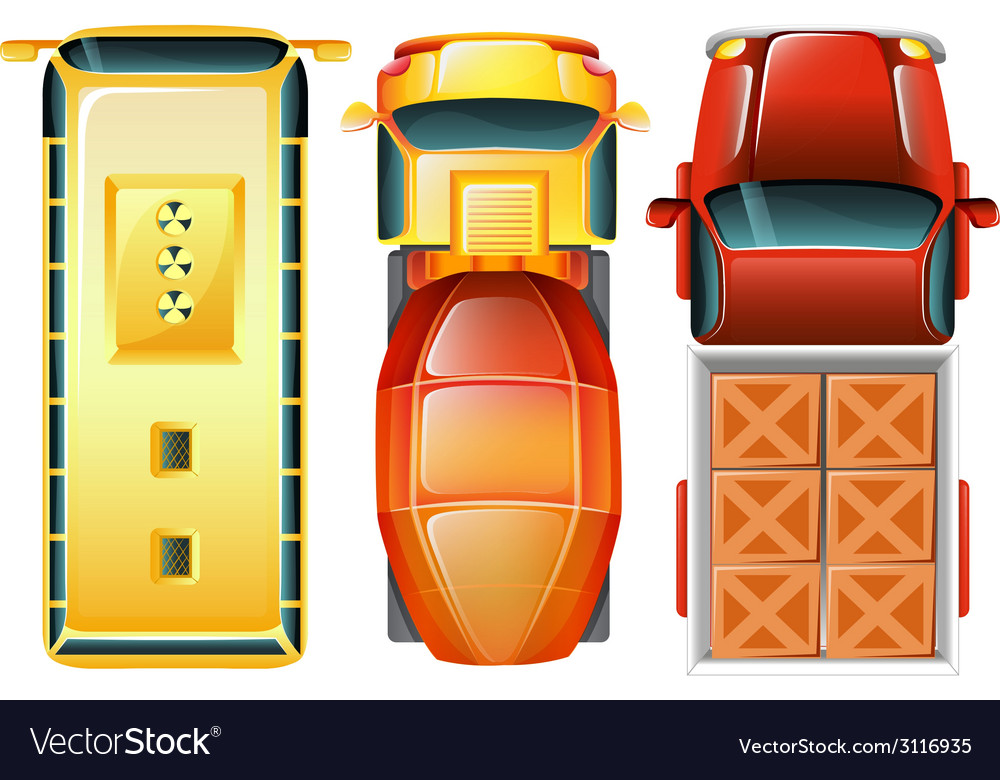 A topview of the cars at the parking area vector | Price: 1 Credit (USD $1)