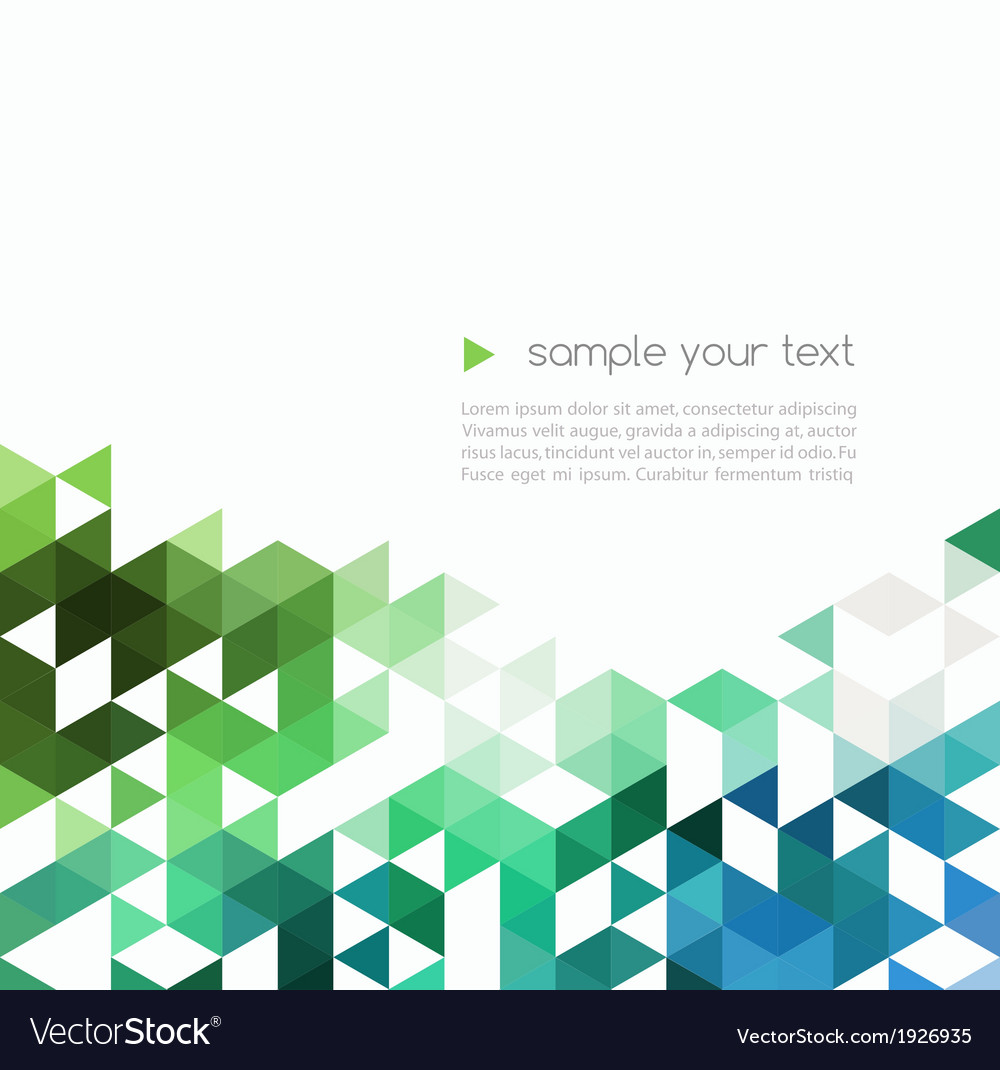Abstract technology background with color triangle vector | Price: 1 Credit (USD $1)
