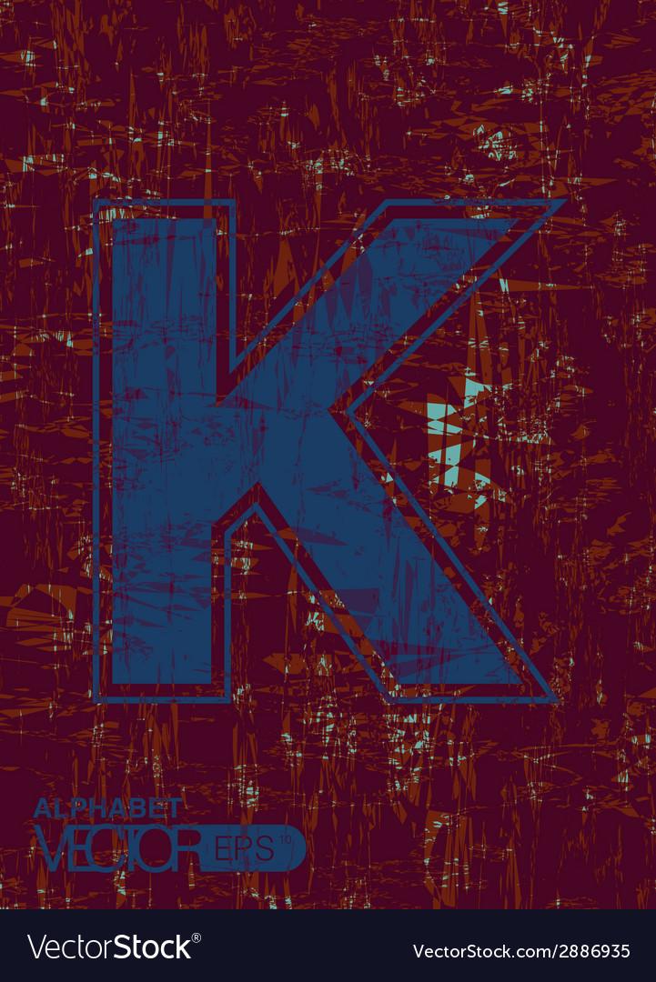 Alphabet k vector | Price: 1 Credit (USD $1)