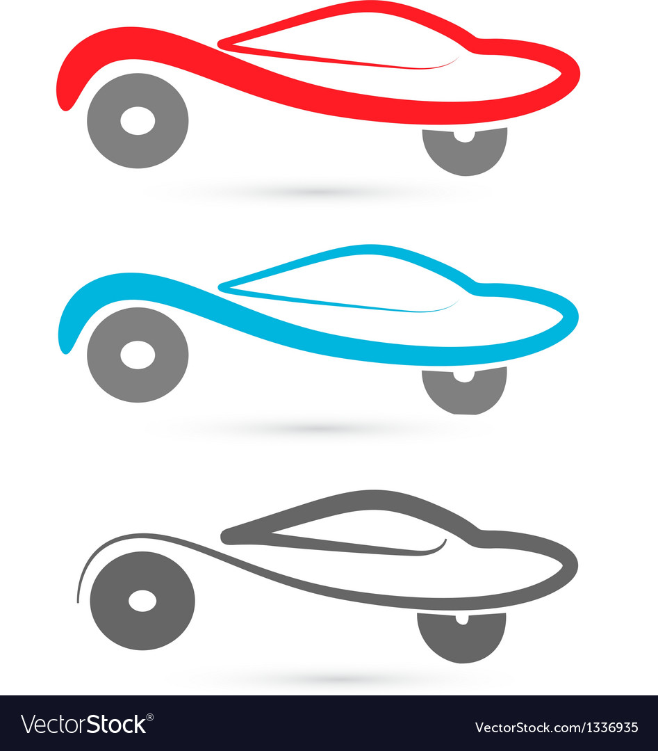 Cars silhouettes logo vector | Price: 1 Credit (USD $1)