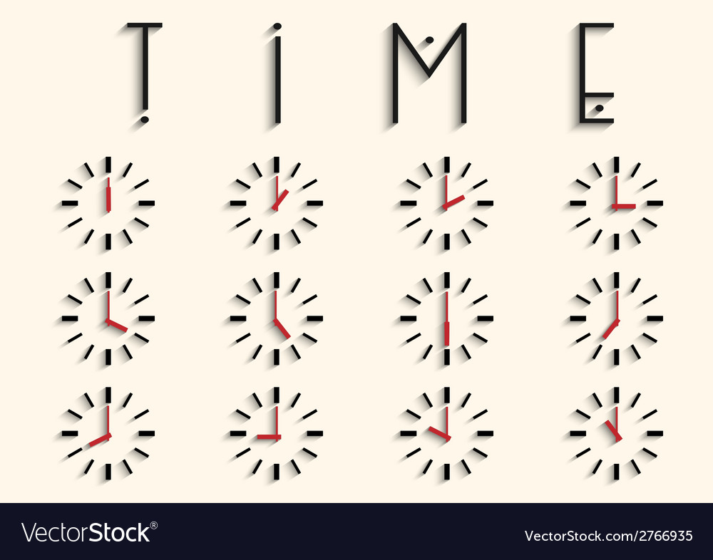 Clocks with transparent shadow vector | Price: 1 Credit (USD $1)