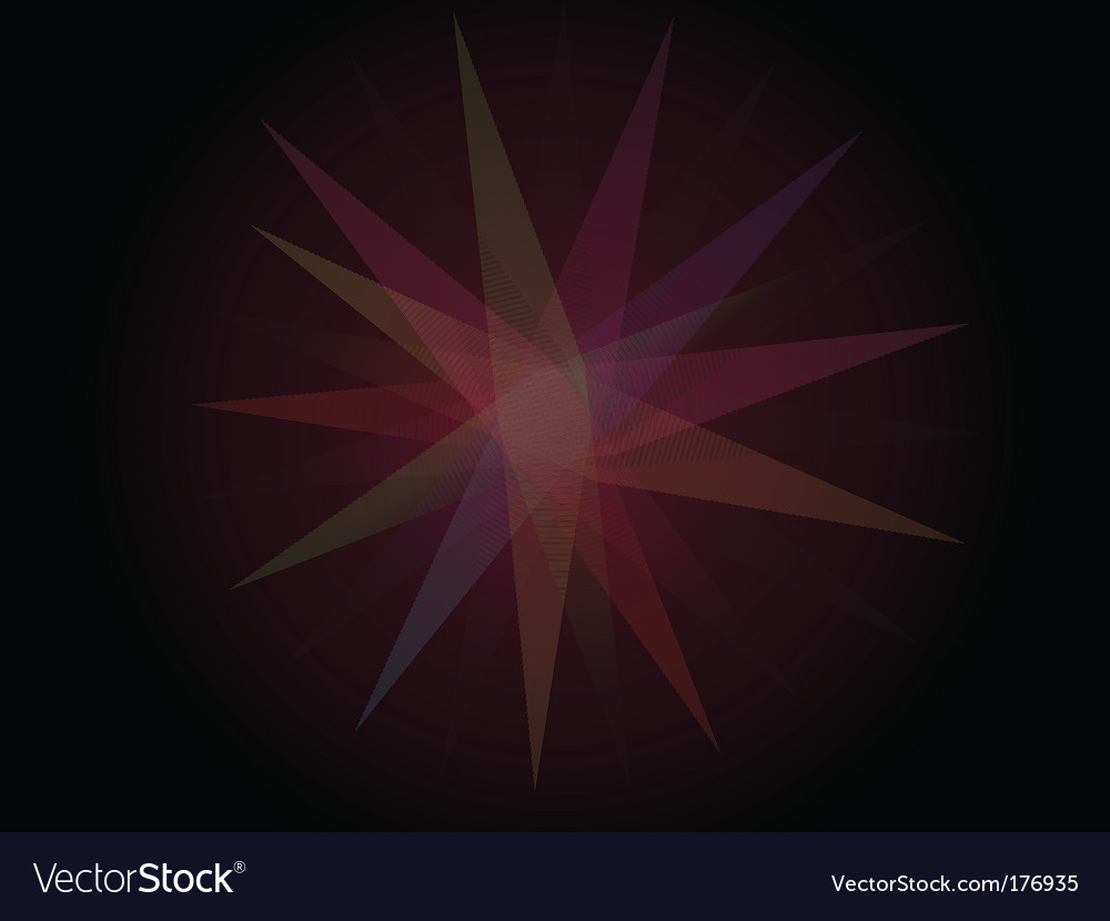 Colorful star vector | Price: 1 Credit (USD $1)