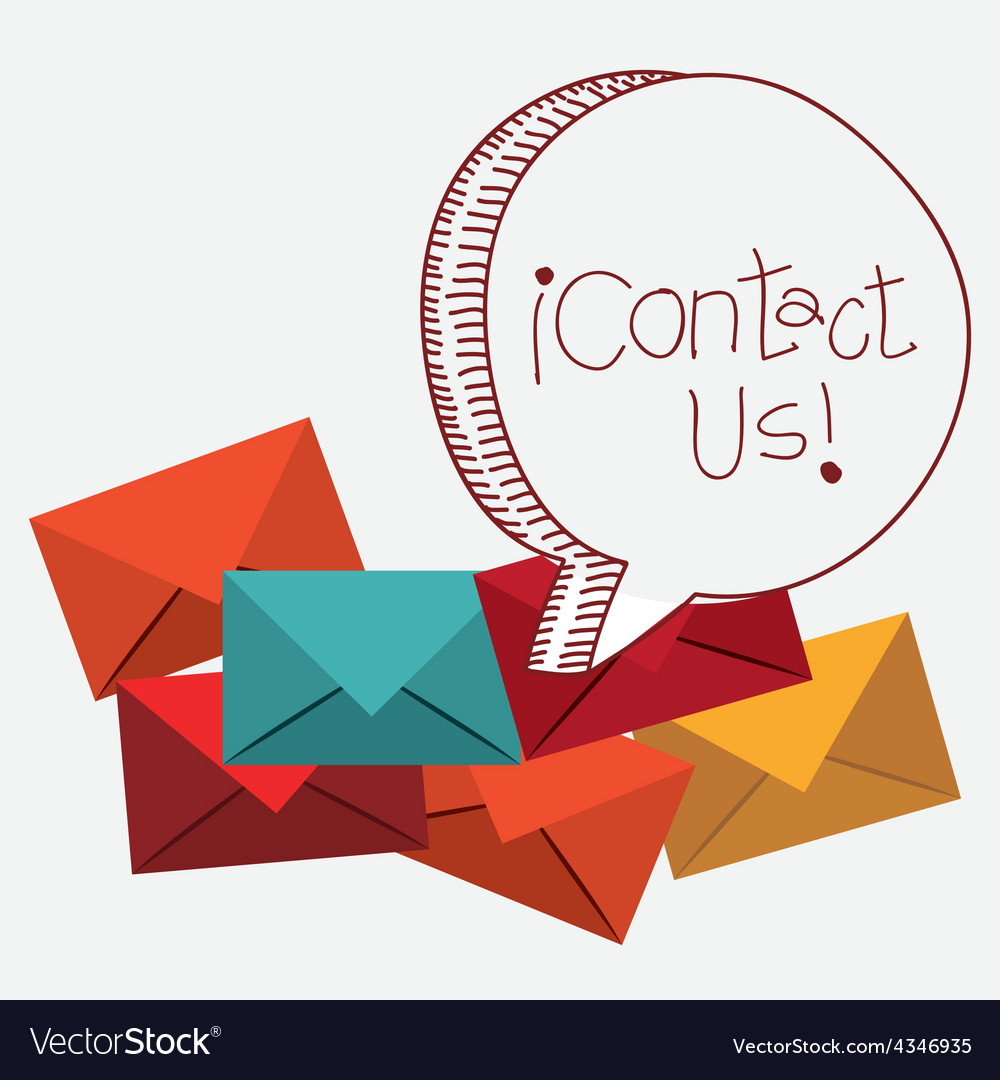 Contact us design vector | Price: 1 Credit (USD $1)