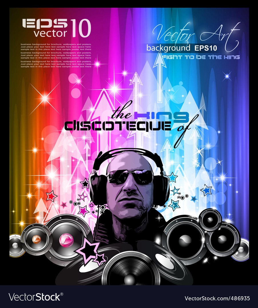 Disco flyer vector | Price: 1 Credit (USD $1)
