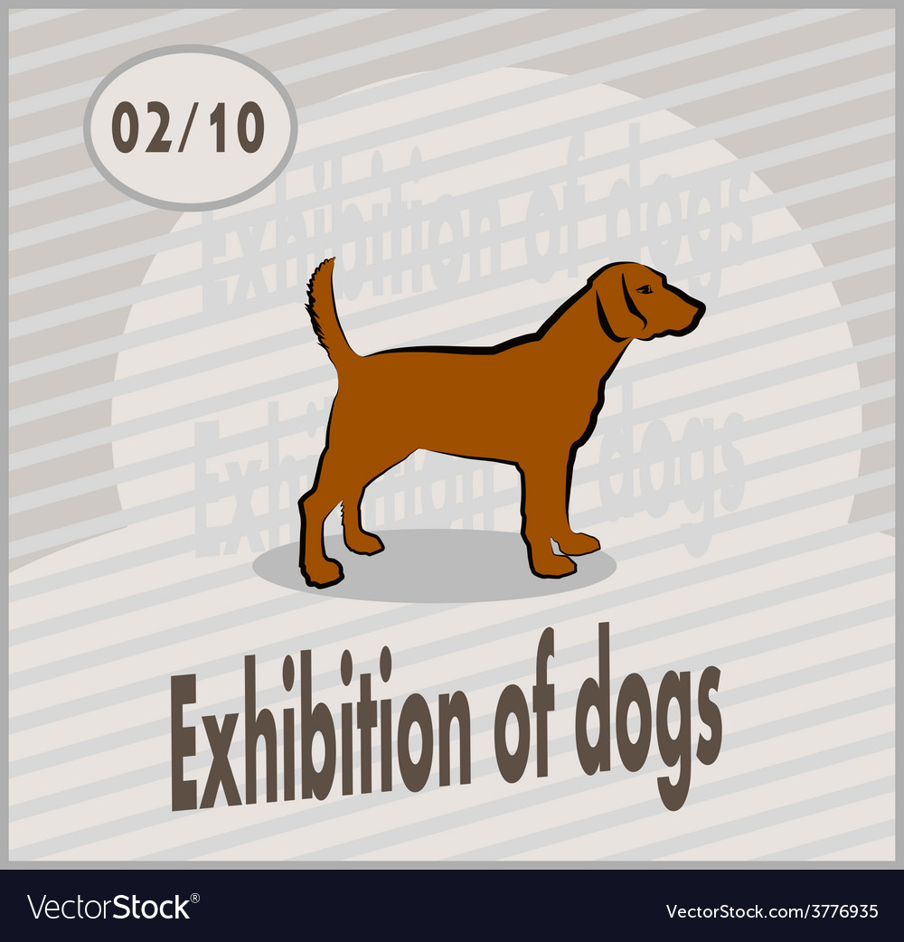 Exhibition of dogs vector | Price: 1 Credit (USD $1)