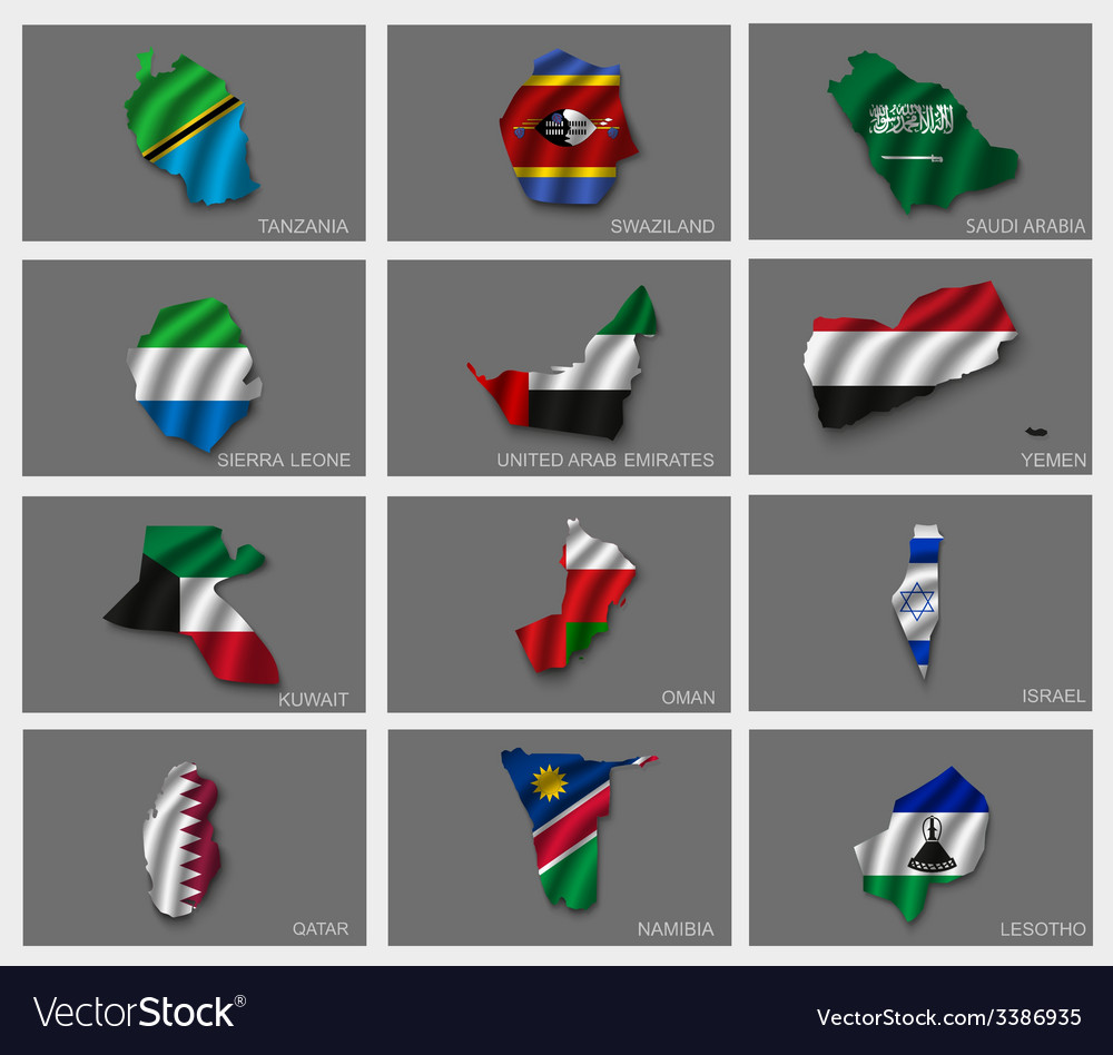Flags in the form of states vector | Price: 3 Credit (USD $3)