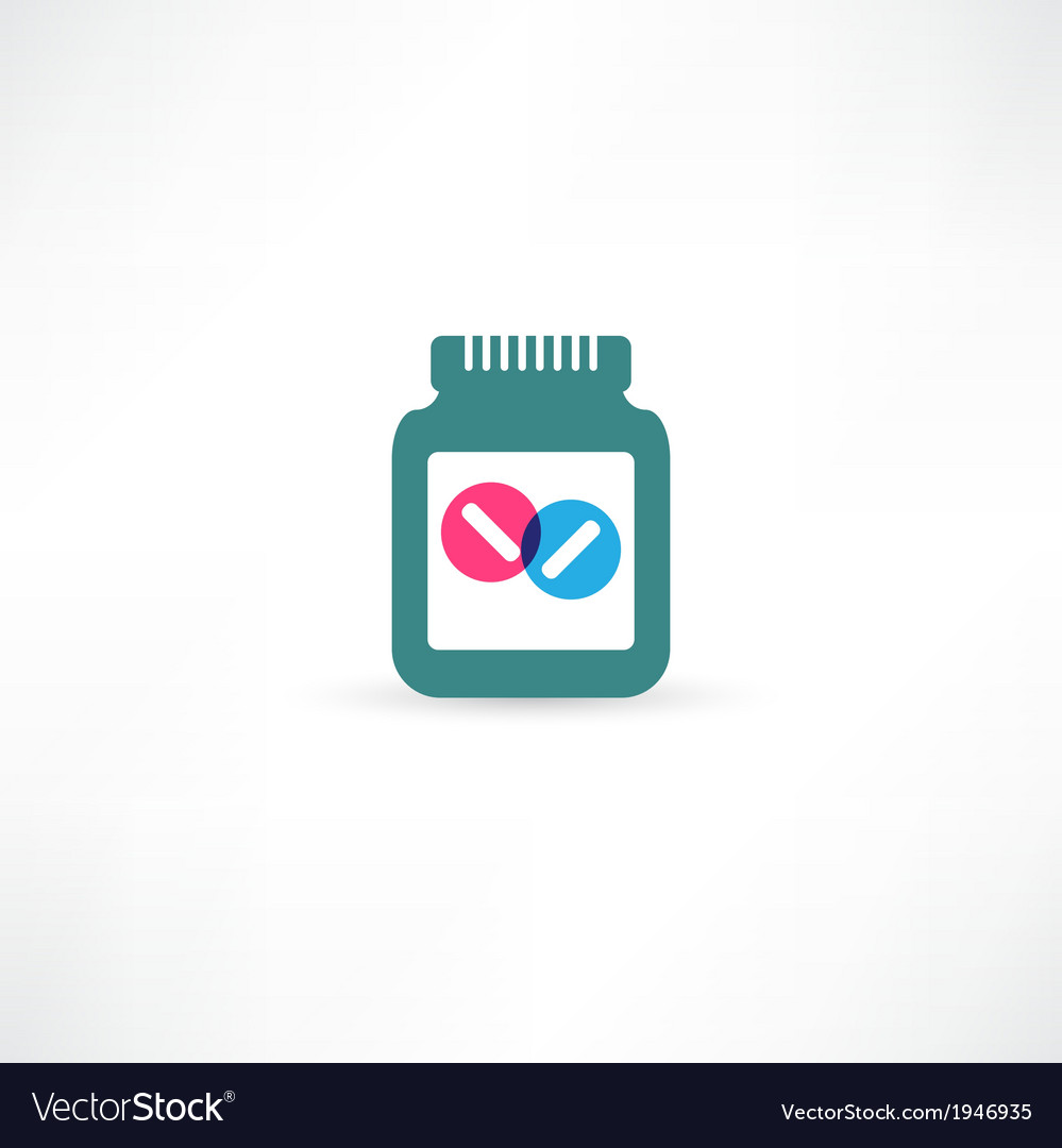 Jar with pills vector | Price: 1 Credit (USD $1)
