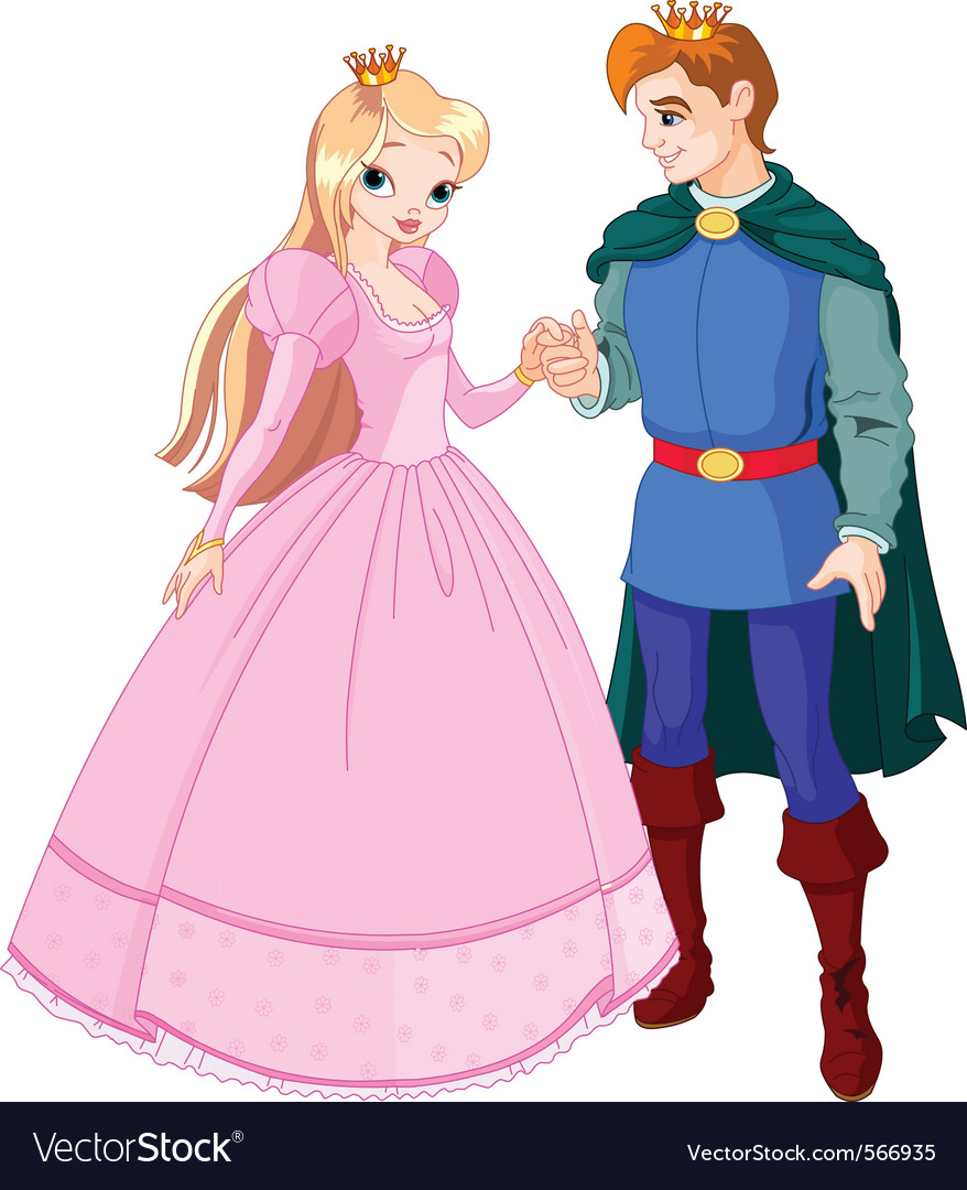 Prince and princess vector | Price: 3 Credit (USD $3)