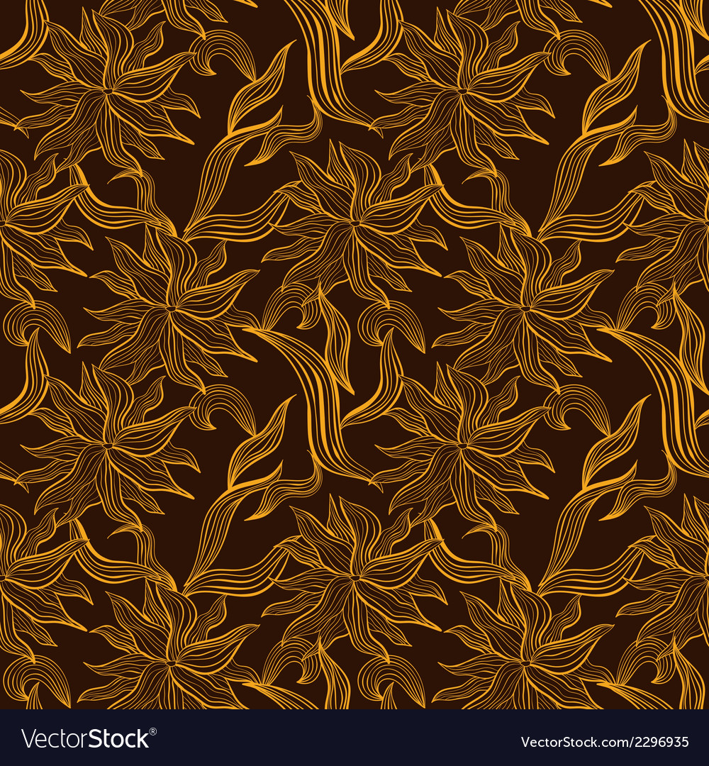 Seamless pattern with floral lace ornament vector | Price: 1 Credit (USD $1)